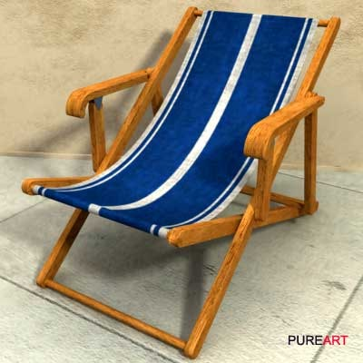 3d model of furniture deckchair mawi
