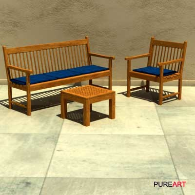 furniture chair bench 3d model