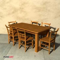 maya furniture chair table wood