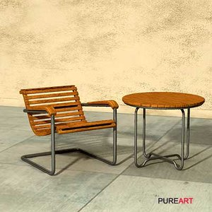 3d model furniture smalltable mawi