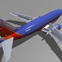 b 737-300 southwest 3d model