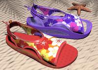 3d sandals shoes model