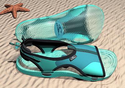 sandal studiotools wire 3d 3ds