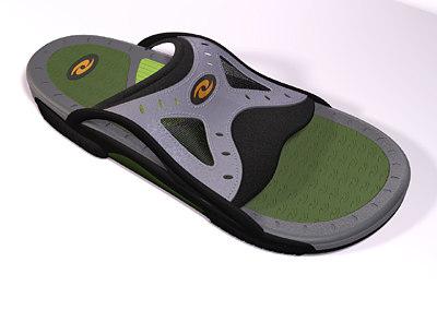 style sandal 3d ma