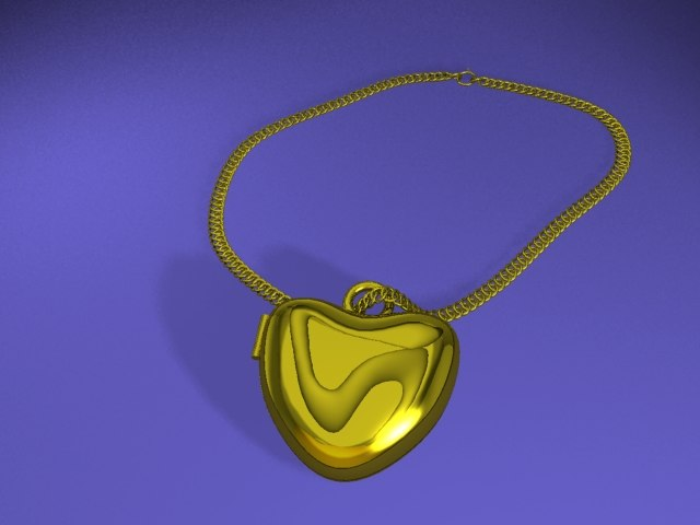 max beautiful necklace animation heart