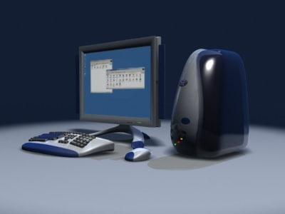concept workstation computer 3d model