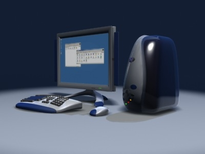 concept workstation computer 3d model