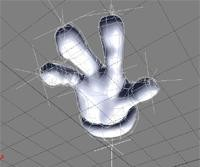 enveloped cartoon hand 3d xsi