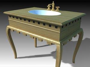 wash basin 3d model