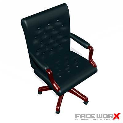 armchair swivel chair 3d x