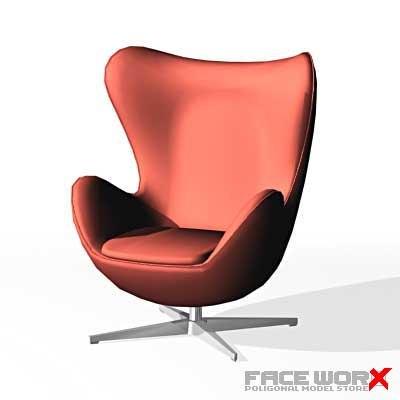 armchair swivel chair 3d model