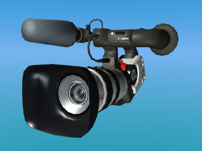 3d model lo res xl1s video camera