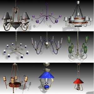 3ds max lamp chandelier