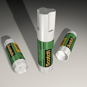 3ds max gluestick paper carton