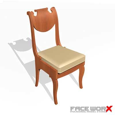 3d chair old fashioned