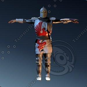 3d knight crusader model