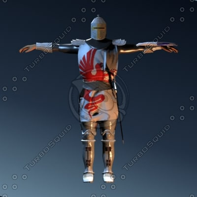 3d knight crusader model