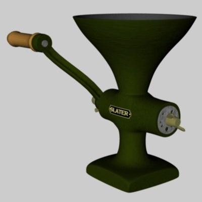 old meat grinder 3d 3ds