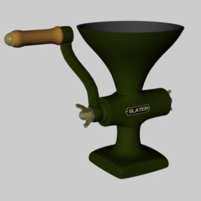 old meat grinder mincer 3d model