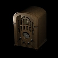 old radio 3d cob