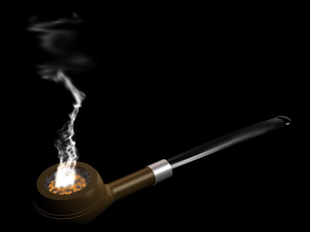free straight pipe smoke 3d model