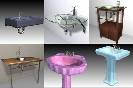3d model basin sink collections