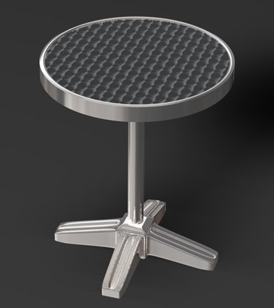free bistro table 3d model