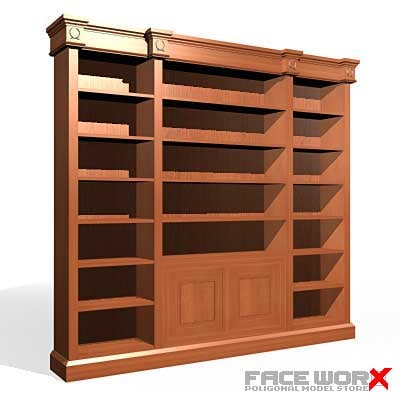 bookcase cabinet 3d model