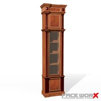3d model bookcase cabinet