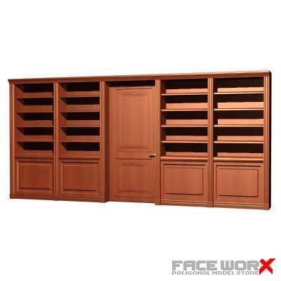3ds max bookcase cabinet