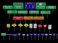 3d u s road signs