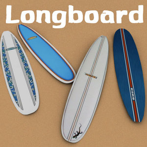 longboard 3d model