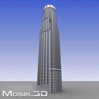 realtime skyscrapers buildings 3d model