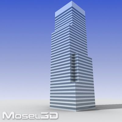 tall office building 3d 3ds