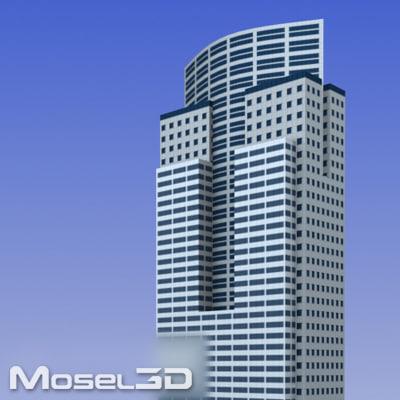 maya realtime skyscrapers