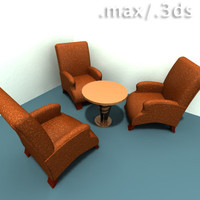 3d lounge chairs