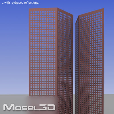 realtime skyscrapers 3ds