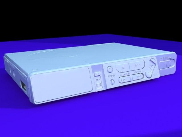 minidisk player sony 3d model