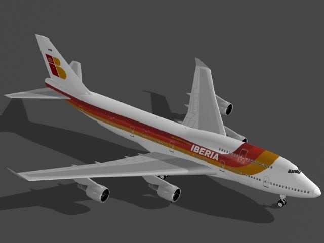 3d dwg b 747-400 iberia