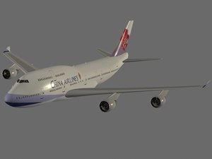 dwg b 747-400 china airlines