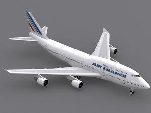 b 747-400 air france 3d model