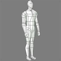 male body template human 3d model