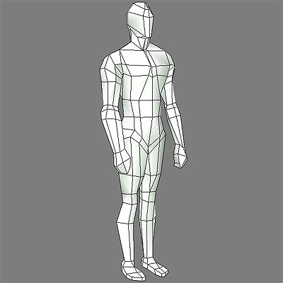 male body template human 3d model