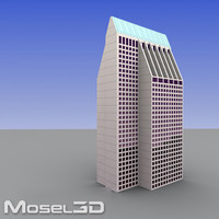 3d model realtime skyscrapers