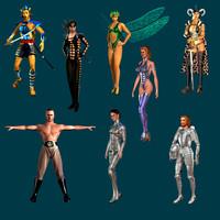humans theme 3d 3ds