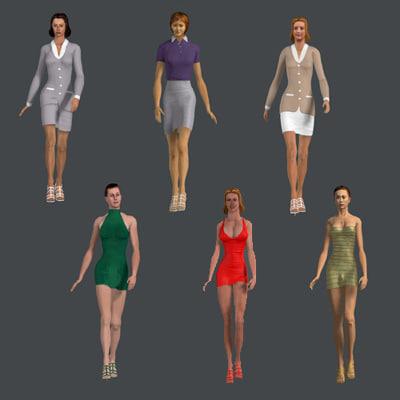 set women 3d model
