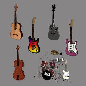 musical set 3d 3ds