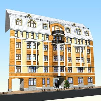 victorian building 3d c4d