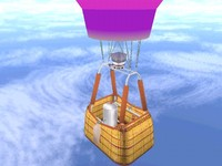 free -air balloon gondola 3d model