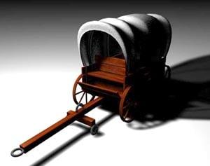 wagons 3d c4d